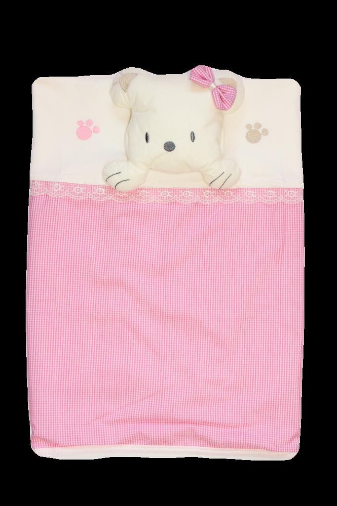 Плед одеяло из интерлока 85х87 см Мишка девочка Турция