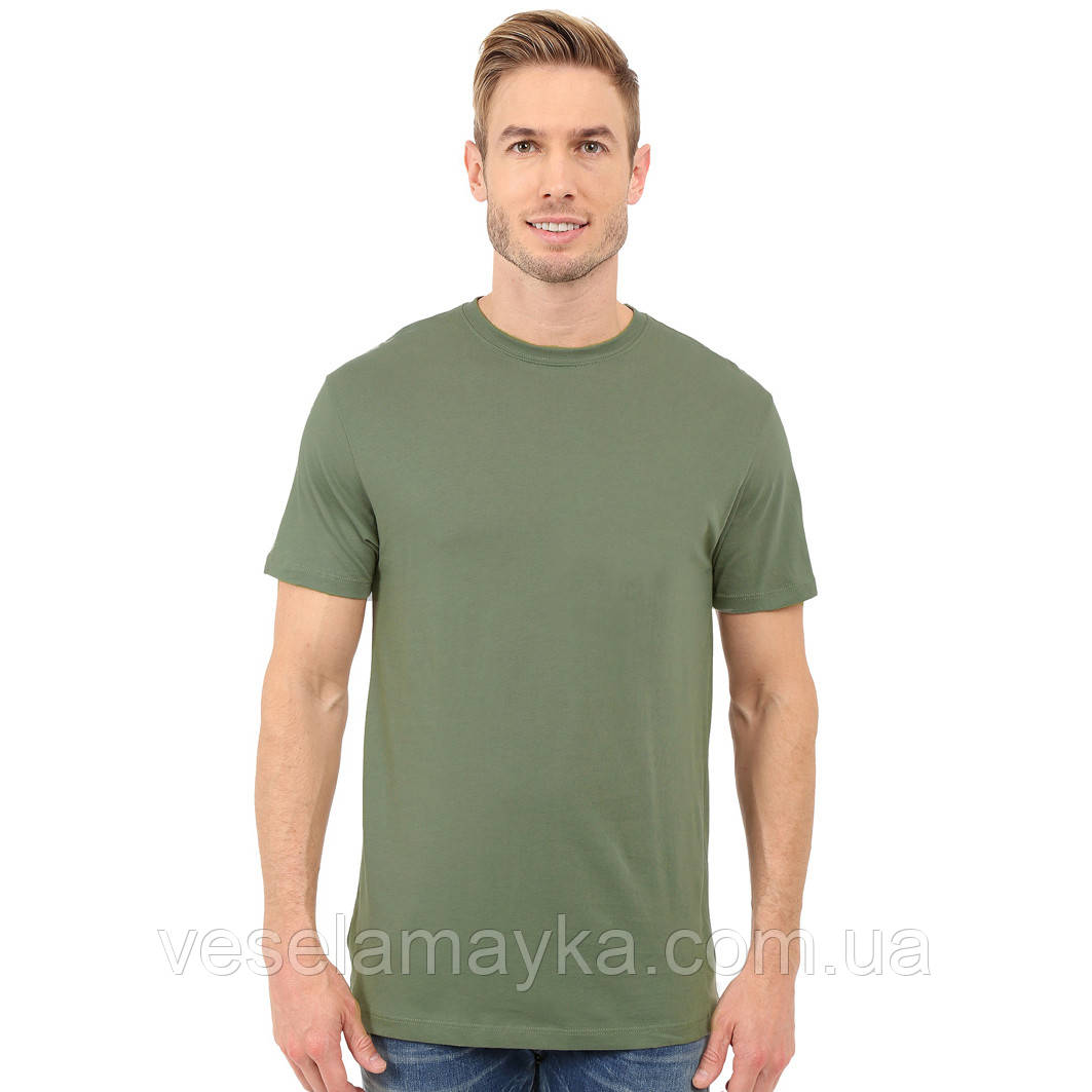 Оливковая мужская футболка (Комфорт)