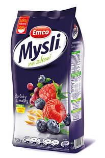 Мюсли Emco с черникой и малиной, 750 грамм