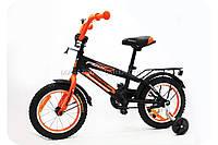 Велосипед детский PROFI G1452, Inspirer, d-14 дюймов черно-оранжевый, фото 1