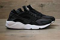 Кроссовки Nike Air Huarache черные с белым (Реплика ААА+)
