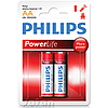Батарейка PHILIPS AA Alkaline Power LR6-P2B 2шт.бл