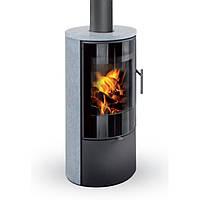 Печь-Камин ROMOTOP LAREDO F 02 (стальной корпус + натуральный камень сверху и с боков)
