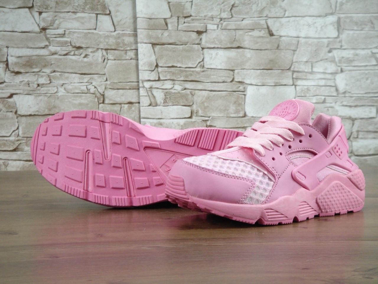1ea946d8 Кроссовки Nike Huarache Aloha Pack розовые с сеткой (Реплика ААА+): ...
