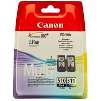 Комплект картриджей Canon PG-510 + CL-511, MP230/250/270, MX320/350, 9 ml + 9 ml, OEM (2970B010)