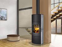 Печь-Камин ROMOTOP OVALIS 02 AKKUM (стальной корпус + природный камень сверху и с боков) аккумуляция (опция)