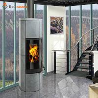 Печь-Камин ROMOTOP SORIA 02 (стальной корпус + натуральный камень сверху и с боков) аккумуляция (опция)