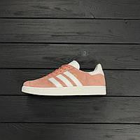 Женские кроссовки Adidas gazelle vapour pink. Живое фото. Топ качество! (адидас газель)