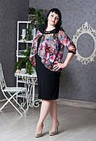 Нарядное женское платье с модным принтом больших размеров: 54,56,58,60,62