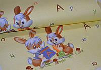 Обои на стену, зайчики, светлый, детские, бумажные, зайчата 74-01, 0,53*10м