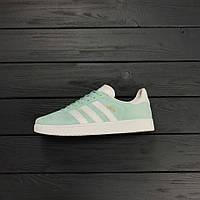 Кроссовки Adidas gazelle mint (мятные). Живое фото. Топ качество! (адидас газель)