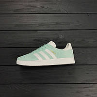 Кроссовки Adidas gazelle mint (мятные). Живое фото. Топ качество! (Реплика ААА+)