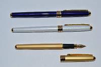 Ручка металлическая перьевая BAIXIN FP-920 (белый, синий, золото)