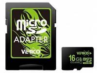 Карта памяти MicroSDHC 08Gb class 4 (SD адаптер) Verico (VFE1-08G-V1E)