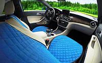 Накидки на сиденья синие. Полный комплект. ШИРОКИЕ. Авточехлы, фото 1