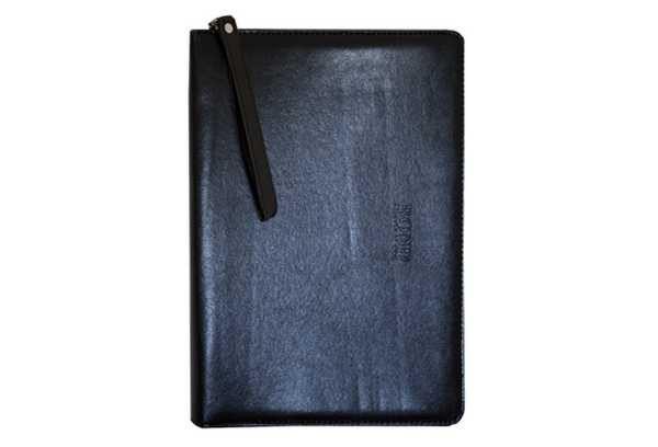 Деловая папка на змейке (кожзам) 807 с выдвижными ручками (1 отделение + 1 карман)