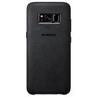 Накладка для Samsung Galaxy S8 + G955 Оригинал Alcantara Cover (EF-XG955ASEGRU) Silver / Gray (EF-XG955ASEGRU)