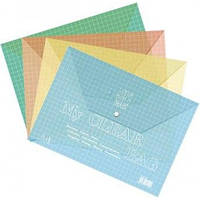 Папка-конверт А4 My CLEAR W209-140 в клетку