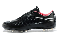 Футбольный бутсы Nike HyperVenom [black\pink\skull] (Реплика ААА+)
