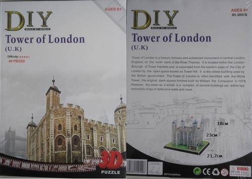 3D Пазл 2801R крепость Лондонский Тауэр