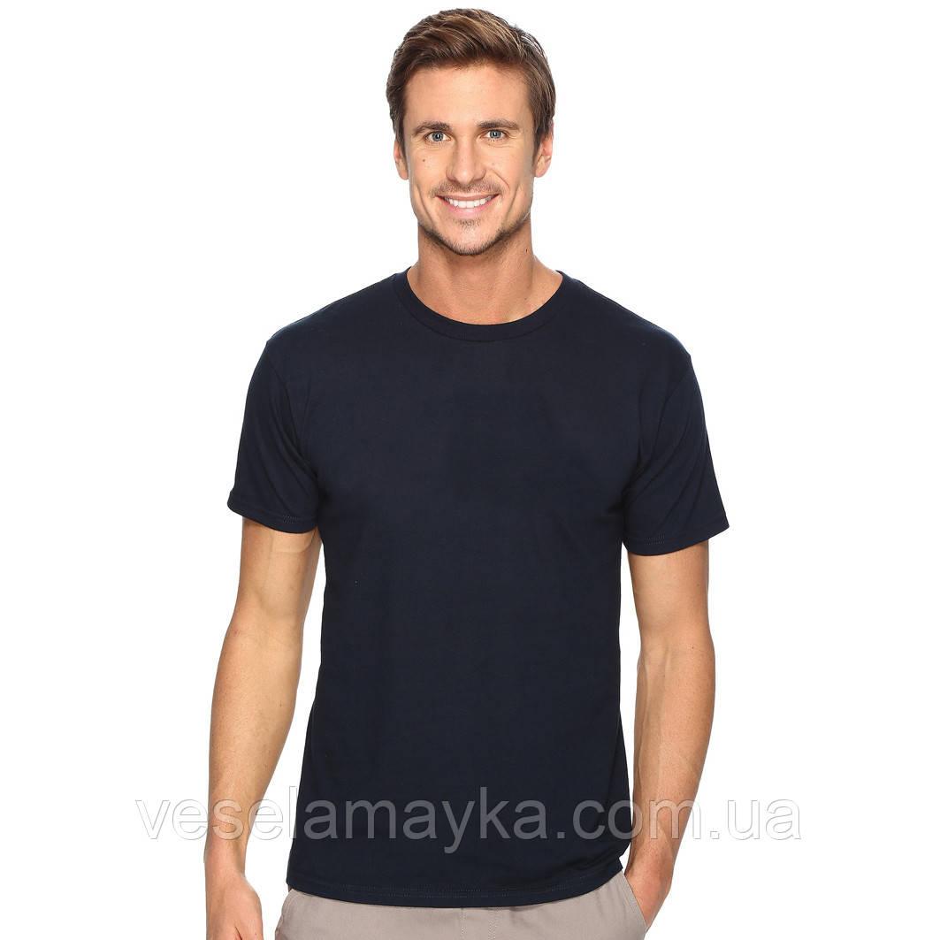 Глубоко темно-синяя мужская футболка (Комфорт)
