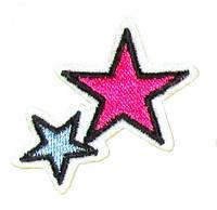 Аппликация клеевая вышитая 5*3,5 см, Звезды