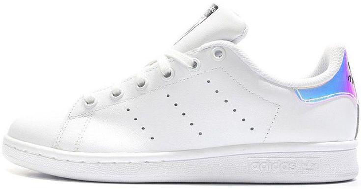 Женские кроссовки Adidas Stan Smith White Metallic Silver-Sld