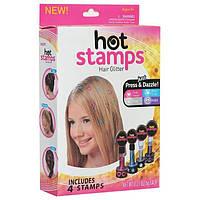 Блестки для волос Hot Stamps Хот Стэмпс Набор штамп — татуировок