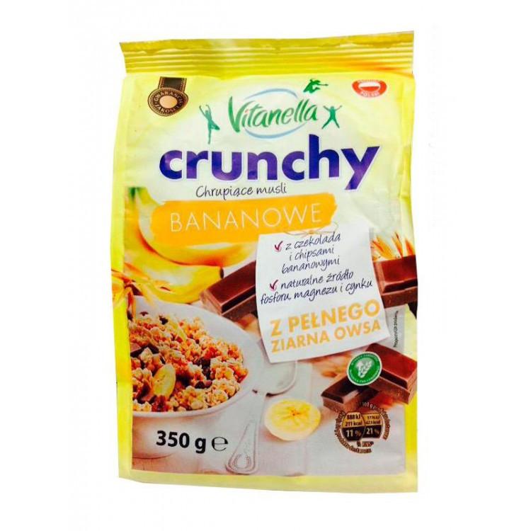 Мюсли овсяные Vitanella Crunchy Bananowe банан и шоколад, 350г
