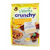 Мюсли овсяные Vitanella Crunchy Bananowe банан и шоколад, 350г, фото 1