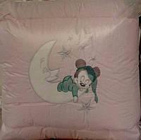 Детское постельное белье розовое  Bonna Классик вышивка