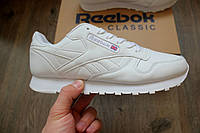 Кроссовки Reebok Classic all white. Живое фото! (Реплика ААА+)