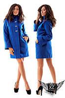 Женское кашемировое пальто на подкладке, цвета черное, синее, электрик, все размеры