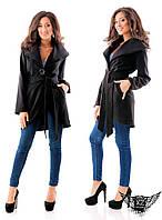 Женское ашемировое пальто на подкладке, цвета черное, красное, электрик, синее, все размеры