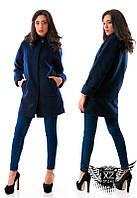 Женское ашемировое пальто на подкладке, цвета красное, синее, все размеры