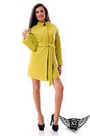 Женское кашемировое пальто на подкладке, цвета оливковое, все размеры