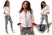 """Женская рубашка """"Tommy Hilfiger"""", цвета белая, тёмно-синяя, все размеры"""