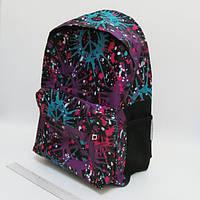 """Рюкзак мягкий DSCN0615-B-2 """"Воображение"""" фиолетовый, с карманом, подростковый"""