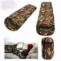 Спальный мешок спальник с капюшоном теплый качественный комуфляжный