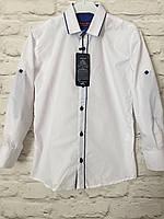 Рубашка белая на кнопке 7-12 лет