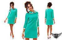 Платье в стиле шанель с белым воротником, цвета бежевое, пудры, черное, голубое все размеры