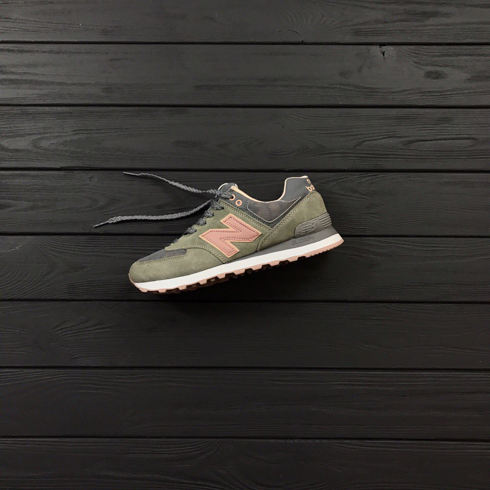 Женские кроссовки New Balance 574 green grey. Топ качество. Живое фото ( Реплика ААА+) 7dfdacfe410