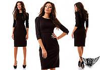 Классическое платье алекс с принтом, цвета черное с голубым, черное с тёмно-зеленым, черное с бордовым