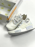 Кроссовки Adidas NMD Runner all white. Живое фото! Топ качество! (Реплика ААА+)