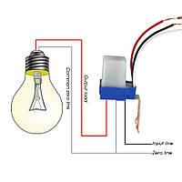 Датчик освітленності, фото реле, автоматичне вмикання світла