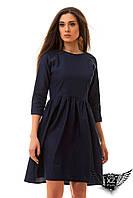 Платье джинс, цвета морской волны, электрик, синее, все рамзеры