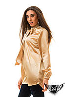 Блуза-туника атласная, цвета золотая, бутылка, тёмно-зеленая, черная, бордовая, все размеры