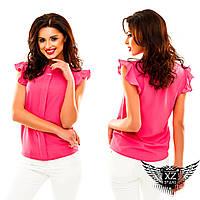 Блуза без рукавов шифоновая, цвета зеленая, фиолетовая, тёмно-бежевая, пудра все размеры, другие цвета