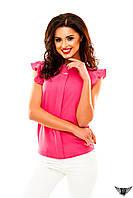 Блуза без рукавов шифоновая, цвета желтая, пудра, розовая, красная все размеры, другие цвета