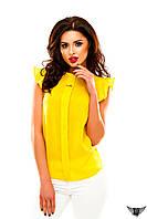 Блуза без рукавов шифоновая, цвета бордовое, голубая, пудра, желтая все размеры, другие цвета